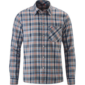 Maier Sports Karo LS Top Men blue/red check